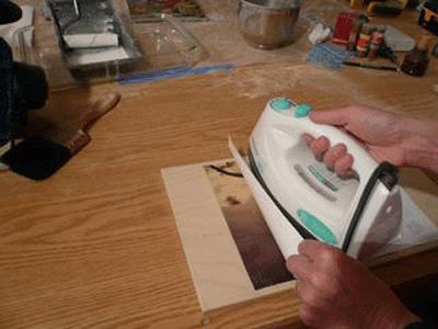 In chuyển nhiệt lên gỗ