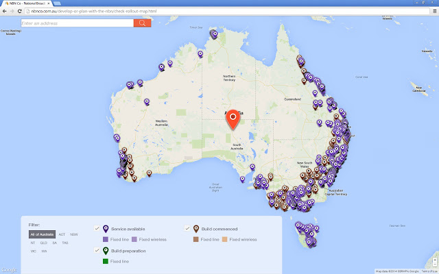 Nbn Roll Out Map Full screen NBN Rollout Map