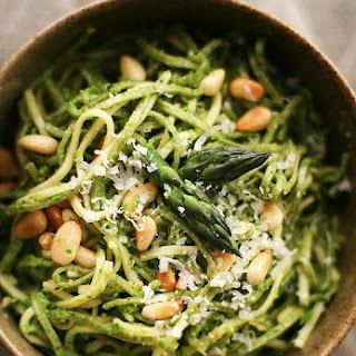Asparagus Pesto with Pasta.