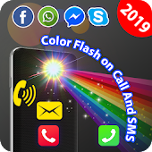 Color flashlight alert on call and sms Icon