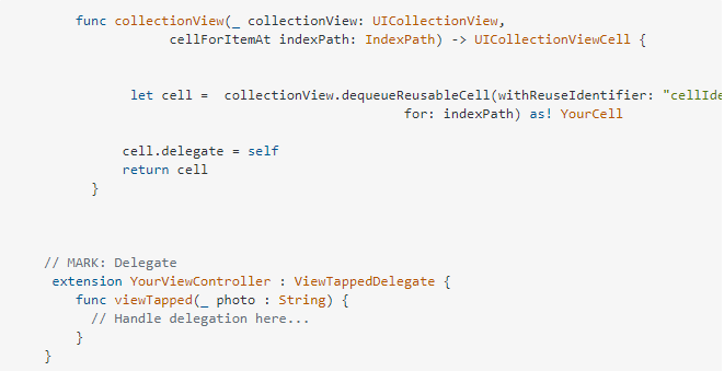 ViewController - Collection View - YelloStack - Enabling Multiple Gesture Recognizer