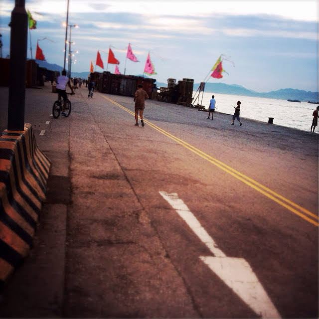 hong kong, Evening, Exercise, Harbor, twilight,  黃昏, 港灣, 活動