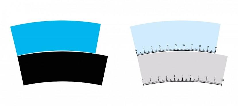 Modrá i čierna plocha sú v skutočnosti rovnako dlhé