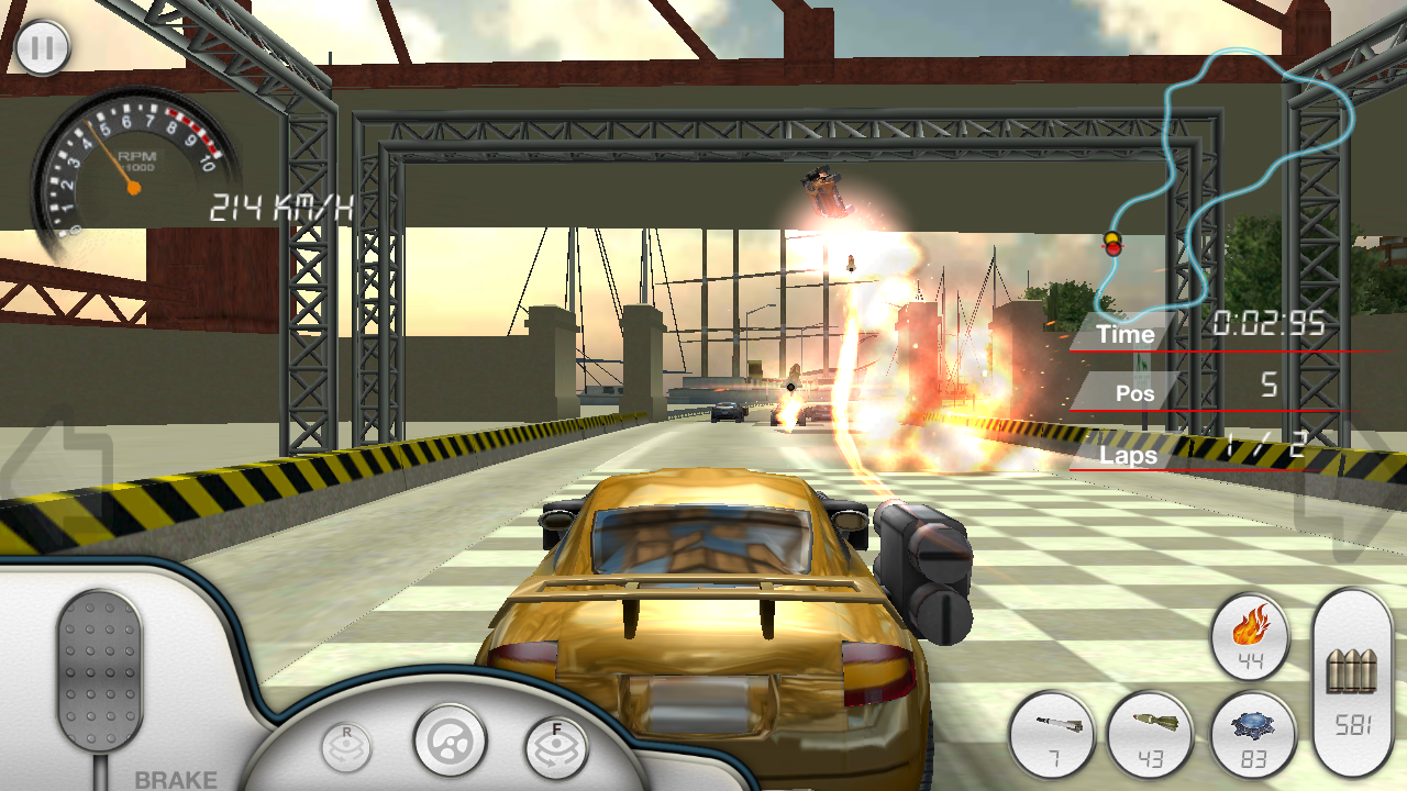 Screenshots of Armored Car HD (Racing Game) for iPhone