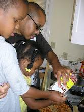 Photo: Q, Kaleya & Kalonji cooking - 7/4/07