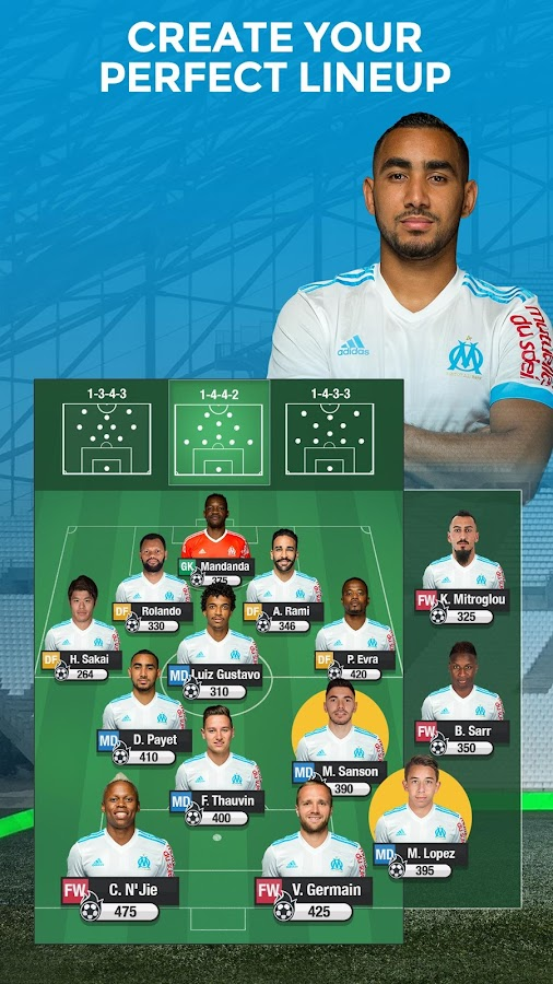 Olympique de Marseille Fantasy Manager 18- screenshot