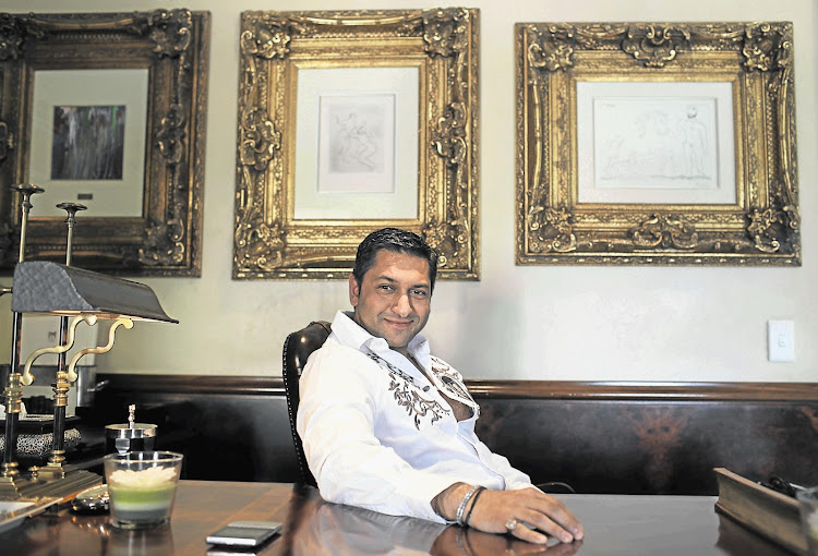 Zunaid Moti in his home office in Joburg
