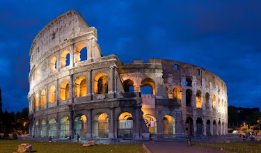 Photo: The Colosseum at night