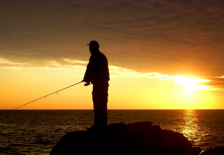 Fishing sunset di Daniele M