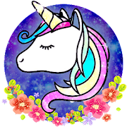 App Glitter Galaxy Unicorn Launcher Theme Wallpapers 1.0 APK for iPhone