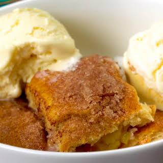 Cinnamon-Sugar Peach Dumplings.