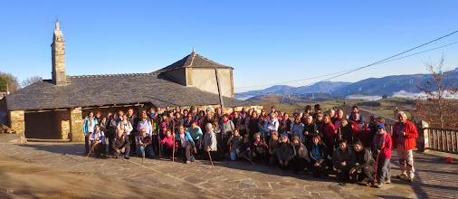 Photo: Penafonte - A Fonsagrada  . 1ª Etapa Camiño Primitivo  10-01-15  . Punto de partida   Iglesia parroquial de Santa María Magdalena (1605 ) . Penafonte ó Peñafuente (Asturias )