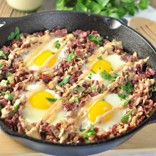 Corned Beef Hash Breakfast Skillet - Paleo, Low Carb