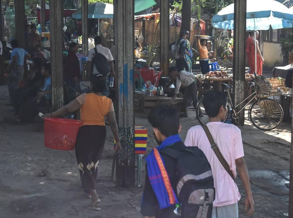 local market burma