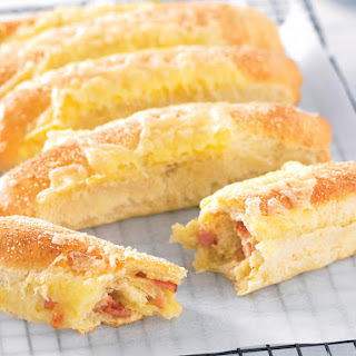 Bacon and Cheese Rolls.