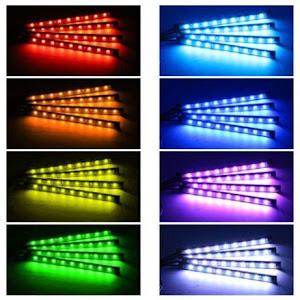 Lumini ambientale auto Kit interior LED RGB cu telecomanda