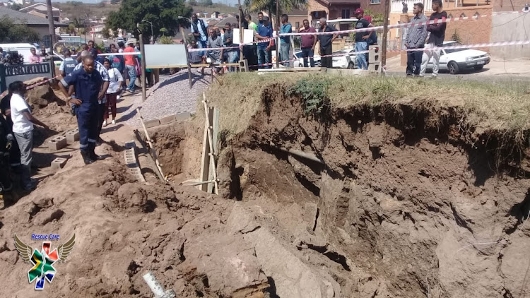 A man died when a sandbank collapsed on him at a construction site in Chatsworth on September 11 2018.