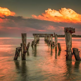 Lost but not forgotten  by Kathy Val - Landscapes Sunsets & Sunrises ( sunset, sea, ocean, landscape,  )