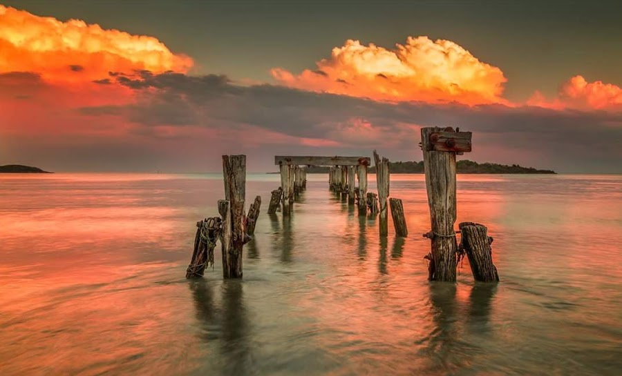 Lost but not forgotten  by Kathy Val - Landscapes Sunsets & Sunrises ( sunset, sea, ocean, landscape,  )