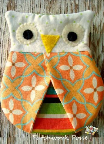Craftsy Pattern - Quilted Owl Hotpad