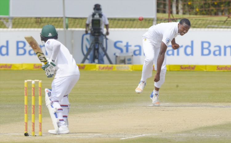 Kagiso Rabada of South Africa during day 3 of the 1st Sunfoil Test match between South Africa and Bangladesh at Senwes Park on September 30, 2017 in Potchefstroom, South Africa.