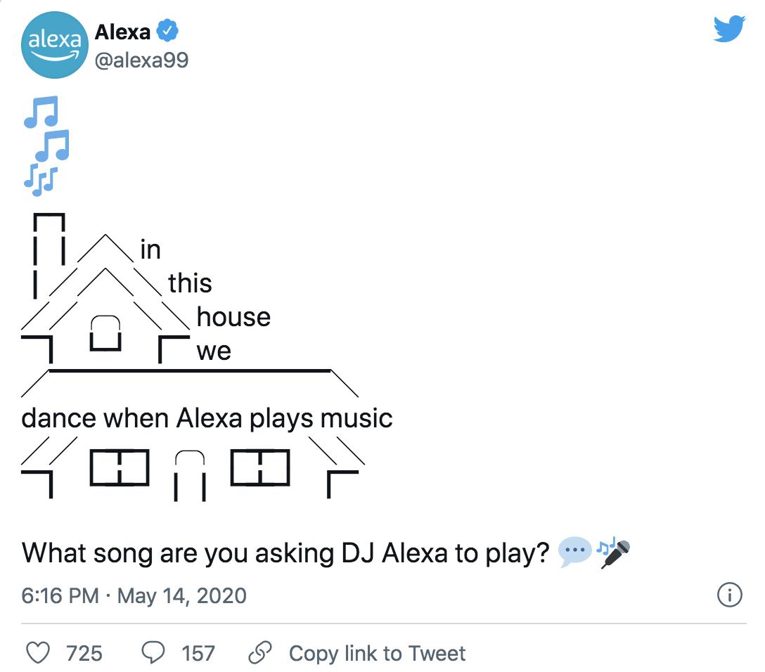 Amazon Alexa Tweet