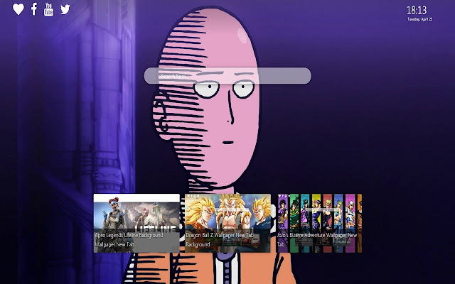 One Punch Man Wallpaper Background New Tab