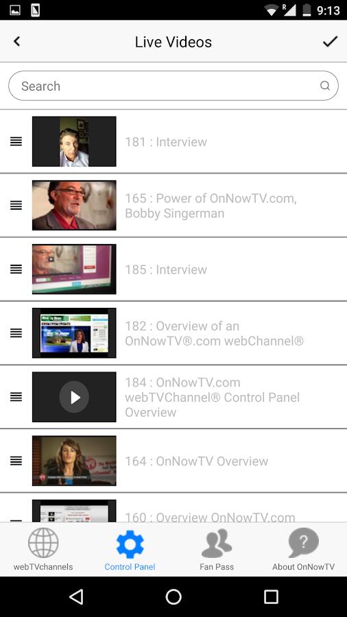 OnNowTV webChannel Reporter- screenshot