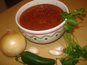 Mexican Red Table Salsa, Salsa Roja de Mesa
