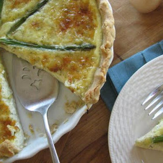 Havarti and Asparagus Quiche