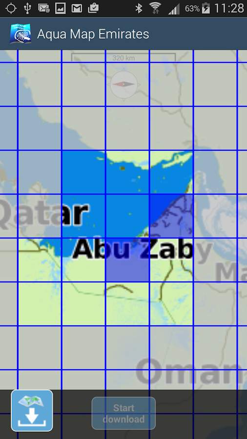 Aqua Map Emirates - GPS- screenshot