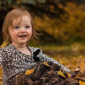 Sophia's second Fall! by Glenn Angel - Babies & Children Child Portraits ( child, happy, fall, cochrane, leaves )
