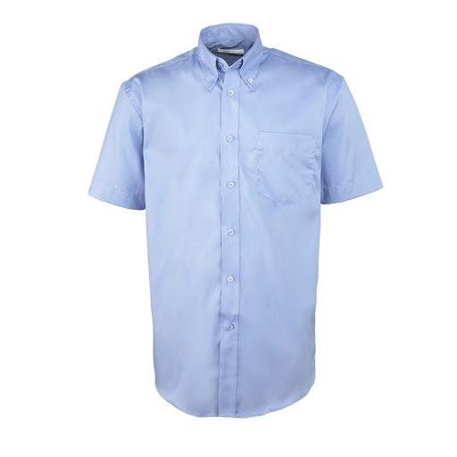 Kustom Kit Men's Short Sleeve Corporate Oxford Shirt (Red)