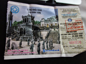 Photo: VIETNAM Hué - Tombeau de Tu Duc ticket d'entrée