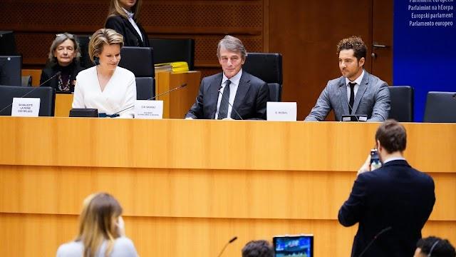 David Bisbal, antes de su intervención. (Foto: @EP_President)