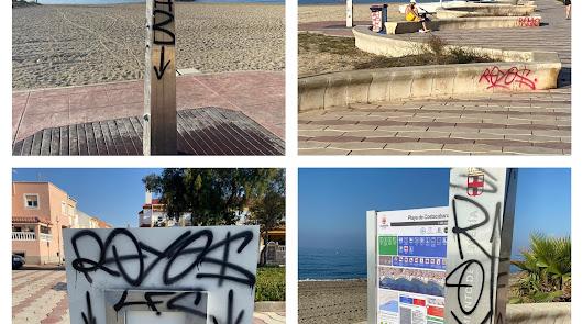 Actos vandálicos en la Playa de Costacabana