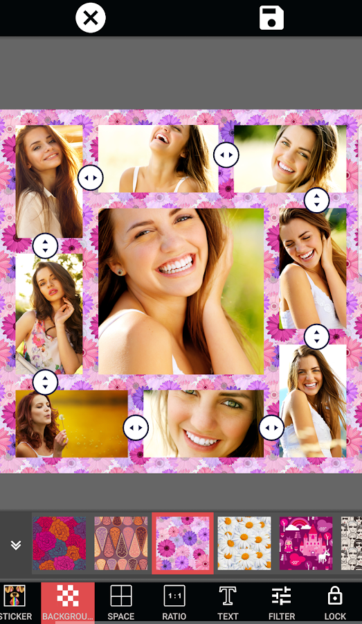 Photo Collage Editor Selfie Camera Filter Sticker- screenshot