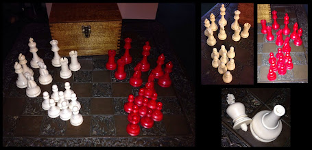 Photo: Well, it's taken a very long time, but I have finally seen an example of the 'Chess' set - appearing on eBay September 2014, this was a 10.5cm King set.   Although not shown, the box was apparently marked 'Chess, Sutton Coldfield'