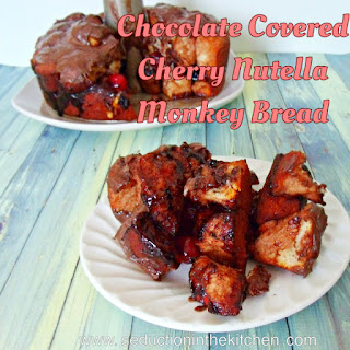 Chocolate Covered Cherry Nutella Monkey Bread.