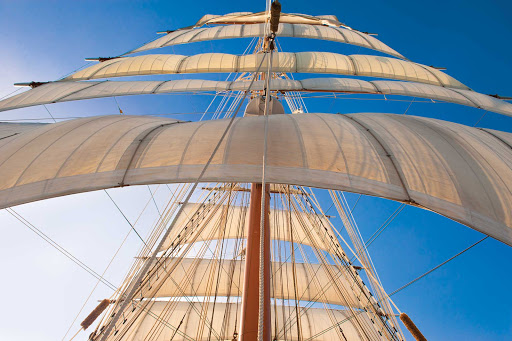 Lindblad-Expeditions-Sea-Cloud-Sails.jpg - The Lindblad-National Geographic Expeditions ship Sea Cloud sports 30 gorgeous square sails.