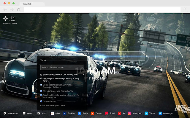 Need for Speed HD New Tab Games Themes