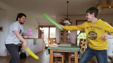 Photo: szülinapi előkészületek - a fiúk is sokat segítettek :D