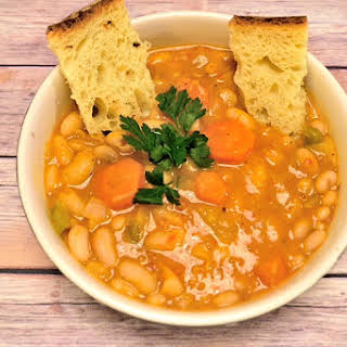 Greek Bean Soup with Carrots and Celery (Fasolada).