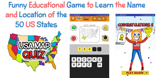 USA MAP QUIZ Guess The US State Game - Apps on Google Play  States Name Game on learn 50 state map game, name all 52 united states, name all states in america, name 50 states worksheet, name all 50 states map, name that state, name 50 states and capitals, name 50 states alphabetical order, name the states, name of united states map with states labeled,