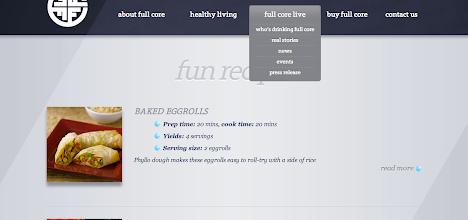 Photo: Back on the main page I decided to explore. I had NO IDEA that they had recipes! YUM!