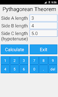 Screenshot of Pythagorean Theorem Calculator