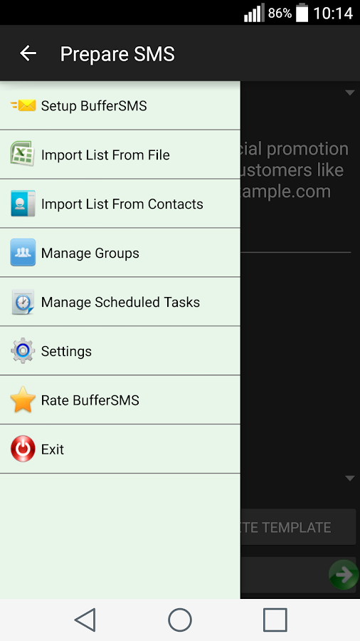BufferSMS (Bulk SMS)- screenshot