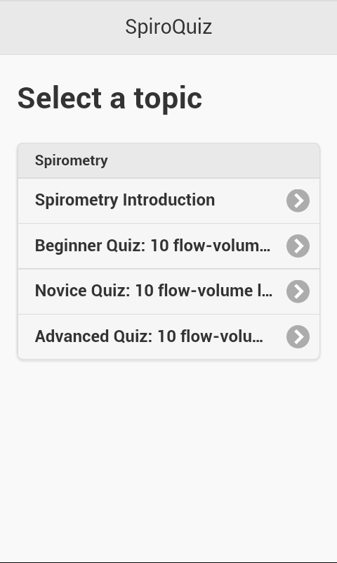 SpiroQuiz- screenshot