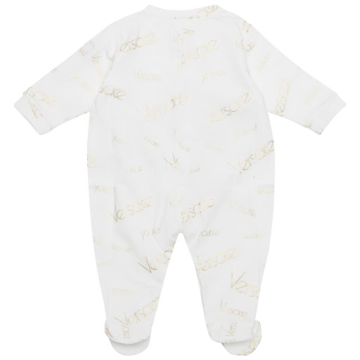 Thumbnail images of Young Versace Gold Logo Babygrow