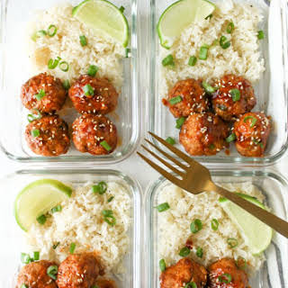 Meal Prep Honey Sriracha Meatballs.